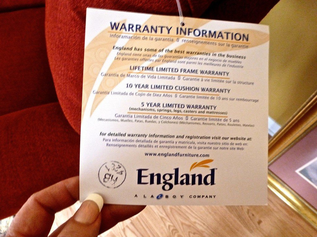 Image of Warranty Card by England Furniture