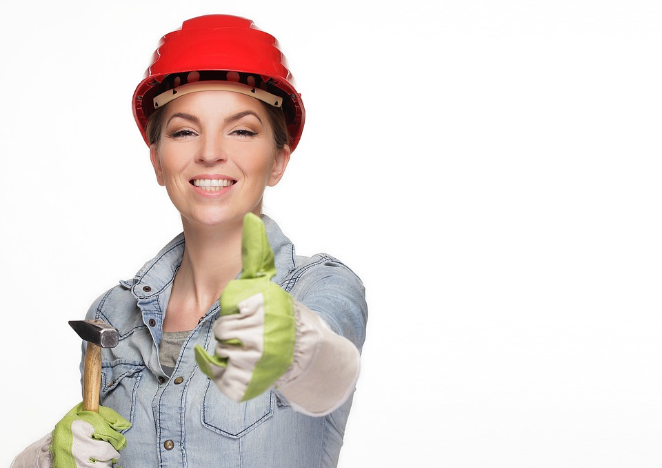 Image of Handy woman saying thumbs up, you can
