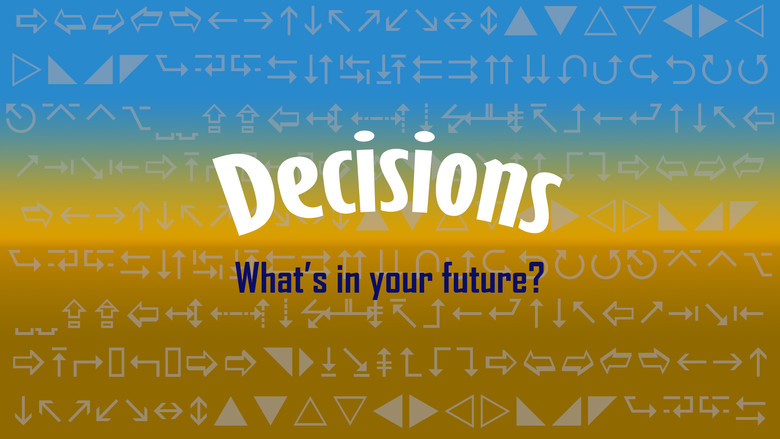 """Image with the word """"Decisions"""" Asking what's in your future?"""