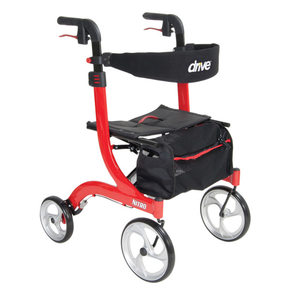 Image of a Drive Nitro Rollator in red color